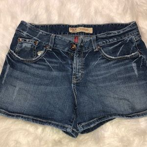 BKE Culture Distressed Stretch Jean Shorts Size 31